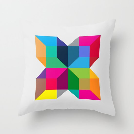 The Intersection Throw Pillow