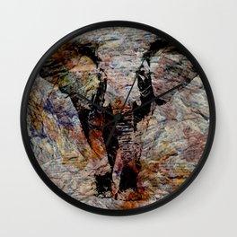 Elephant Print  Wall Clock
