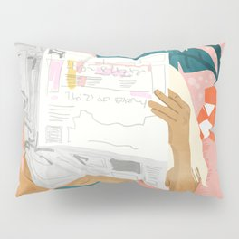 Morning News Pillow Sham