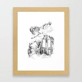 Wendy Thompson Hut - Single Line Framed Art Print
