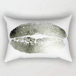 Lips Silver Rectangular Pillow