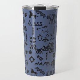 Peoples Story - Black on Blue Travel Mug