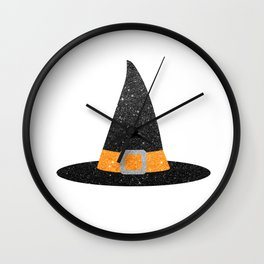 Glitter Witch Hat Wall Clock