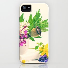 #wild #herbs #still #life, #design from #nature iPhone Case
