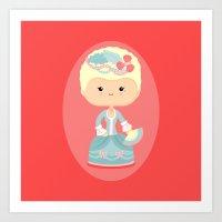 marie antoinette Art Prints featuring Marie Antoinette by Sombras Blancas Art & Design