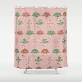 Blooming Umbrella Shape Tree Shower Curtain