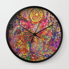 LANDSCAPE WITH DOTS Wall Clock