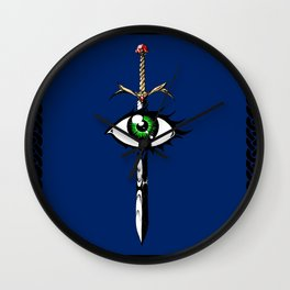 The Reaver in Blue Wall Clock
