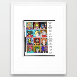 Masters of the Universe Class of '82 Framed Art Print