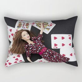Fall of the Queen of Hearts Rectangular Pillow