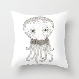 Cracked Octopus Throw Pillow