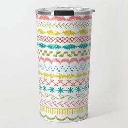 Stitched Stripe pattern Travel Mug