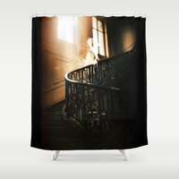 ghost Shower Curtains featuring Ghost by Joe Roberts
