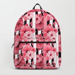 Glittered stripes n flowers Backpack