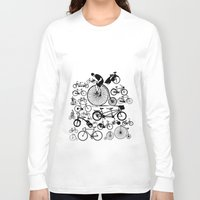 bicycles Long Sleeve T-shirts featuring Bicycles by Ewan Arnolda