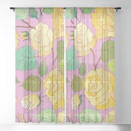 Roses 7 Sheer Curtain