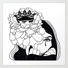 Drama Queen winter flower space Art Print