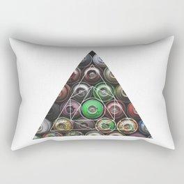 Graffiti Spray Cans - Geometric Photography Rectangular Pillow