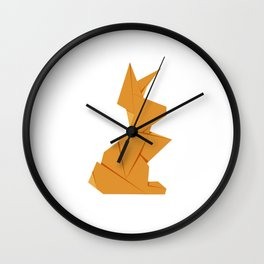 Origami Hare Wall Clock