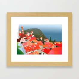 City by the Sea Framed Art Print