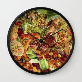 Food Collage 5 Wall Clock