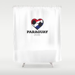 Paraguay Soccer Shirt 2016 Shower Curtain