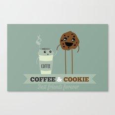 COFFEE & COOKIE Canvas Print