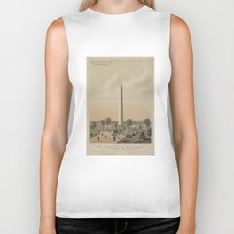 Vintage Washington Monument Illustration (1886) Biker Tank