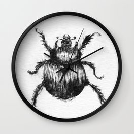 Dung Beeetle insect Wall Clock