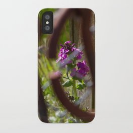 Iron and Purple Flowers iPhone Case