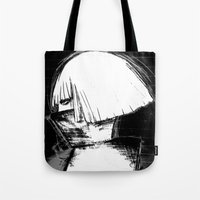 monster inc Tote Bags featuring Mother Monster by Manta Inc