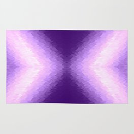 Purple Texture Ombre Rug