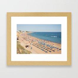 Albufeira beach Portugal Framed Art Print