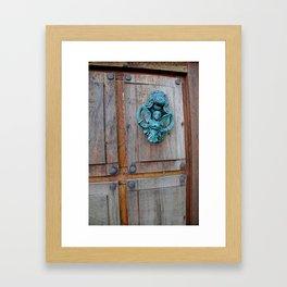 Angels Knocking Framed Art Print