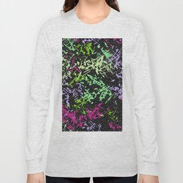 Misc shapes on a black background Long Sleeve T-shirt