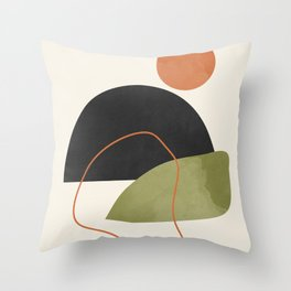 abstract minimal 64 Throw Pillow