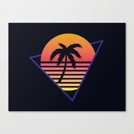 Retrowave sunset 3 / 80s - 90s Retro Canvas Print
