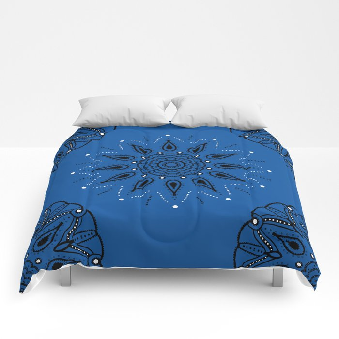 Central Mandala Blue Lapis Comforters