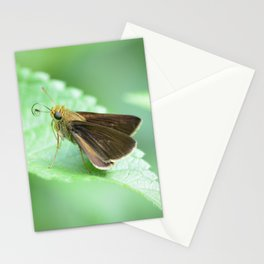moth on a leaf Stationery Cards
