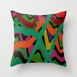 Cross Over The Road Throw Pillow