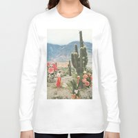 cactus Long Sleeve T-shirts featuring Decor by Sarah Eisenlohr