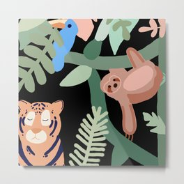 Jungle theme Metal Print