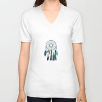 dreamcatcher V-neck T-shirts featuring Dreamcatcher by valzart