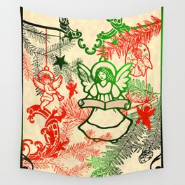 singing angels with scrolls Wall Tapestry