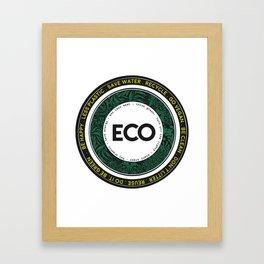Eco-Logo Framed Art Print