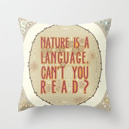 Nature is a Language: The Smiths Lyrics Throw Pillow