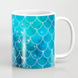 Mermaid Galaxy Scallop Pattern Coffee Mug