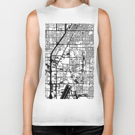 Las Vegas city map Biker Tank