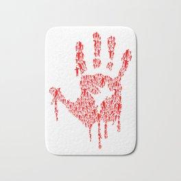 Undead Blood Hand Print Artwork Bath Mat