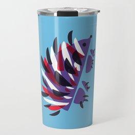 Colorful Abstract Hedgehog Travel Mug